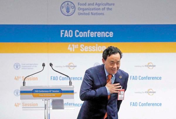 GANADOR. Viceministro de Agricultura, Qu Dongyu. FOTO: AP