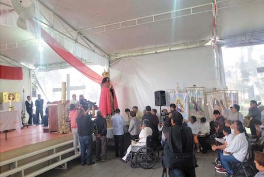 SALVE. La Virgen de Asunción de María resguardará los convenios para los trabajos de remodelación de la iglesia construida en 1667. Foto: Especial