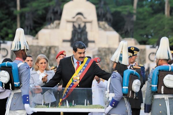 Maduro conmemoró los 198 años del aniversario de la Batalla de Carabobo. Foto: Reuters