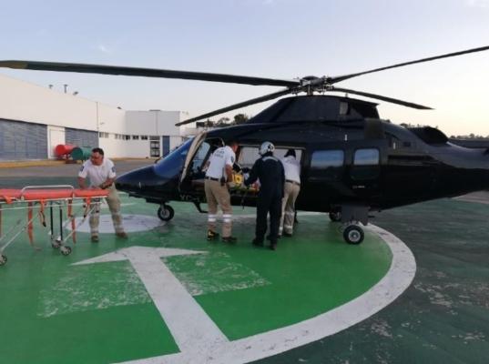 SERVICIO. En transportes aéreos, 59 fueron vía helicóptero por lesiones de trauma. Foto: Especial