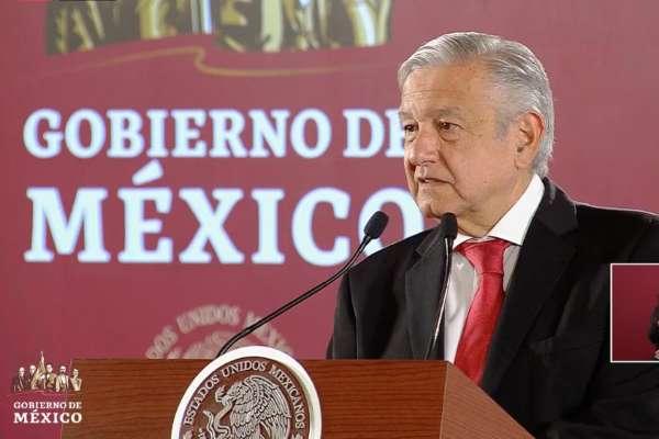 López Obrador ofrece su conferencia desde Palacio Nacional. Foto: Especial