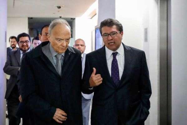 La reunión ocurrió esta mañana, con carácter privado, y se realizó a solicitud del fiscal. Foto: @RicardoMonrealA
