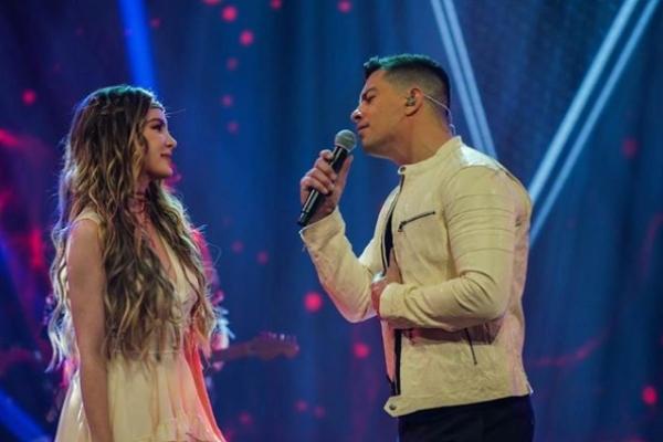 Belinda y Yahir juntos en asombroso dueto. Foto: Especial