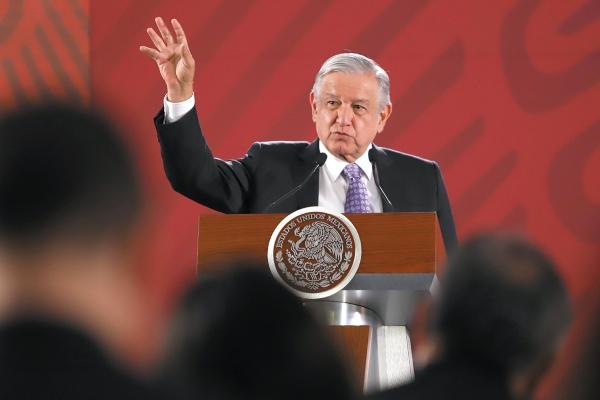 A FUTURO. Ayer, en la mañanera, López Obrador dijo que impulsará un debate sobre las drogas. Foto: Víctor Gahbler