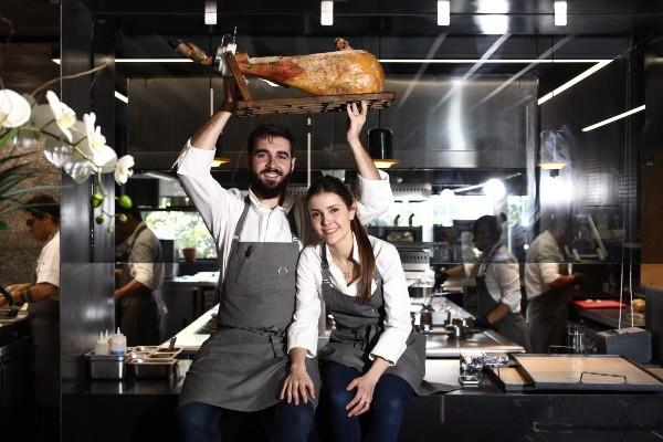 Sandra Fortes y Miguel Hidalgo, chefs dueños de Noso. Foto: Especial