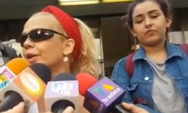 Romina fue captada este viernes en la Ciudad de México por unos policías. Foto Especial