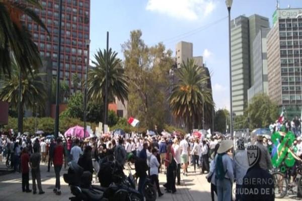 marcha en Paseo de la Reforma