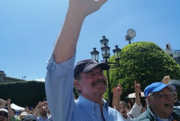 Corren a Fox de marcha en Guanajuato. Foto: Especial