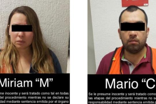 """Cárdenas Medina fue capturado este domingo unto a una mujer como Miriam """"M"""". Foto @FGRMexico"""