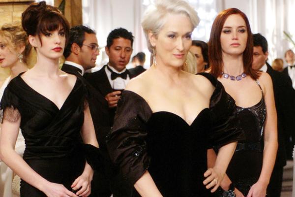 Meryl Streep, Anne Hathaway y Emily Blunt, en una de las escenas de El Diablo Viste a la Moda.