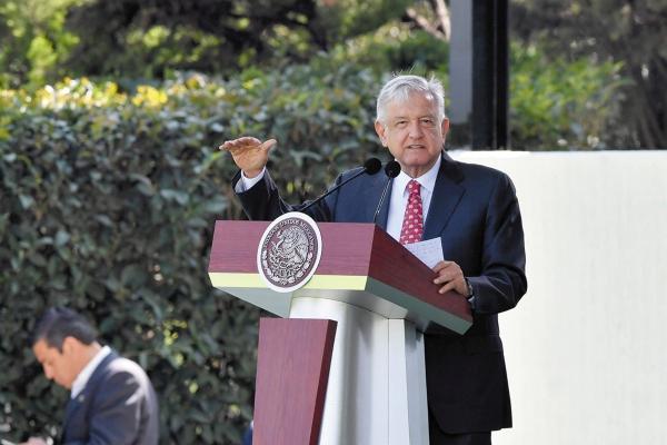 DISCURSO. López Obrador reconoció que no hay avances en la lucha contra la violencia, que le dejaron otros gobiernos. Foto: Pablo Salazar