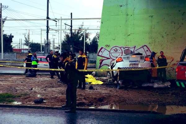El accidente ocurrió a la altura del puente de República Federal con dirección a Puebla. Foto: @israellorenzana