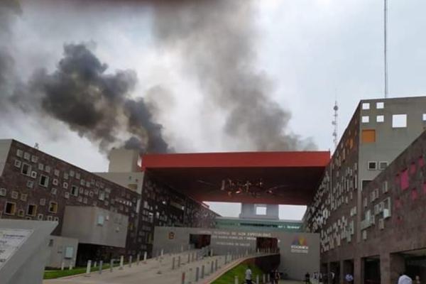 La Secretaría e Instituto de Salud del Estado de México informó que el incendio fue controlado. Foto @SaludEdomex