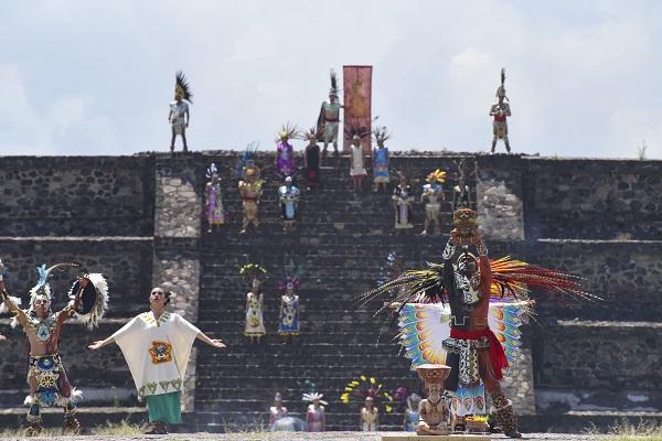 Tanto en los Juegos Panamericanos como Centrocaribeños, el encendido de la flama se realizaba en el Cerro de la Estrella; a partir de la década de los 90 se desarrolla en Teotihuacán. Foto:  DANIEL OJEDA