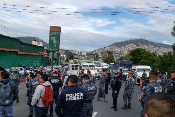 se restablece circulación de méxico-pachuca tras bloqueo de la policía federal