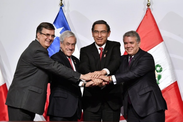 Ebrard Casaubón urgió a modernizar la Alianza del Pacífico por los cambios que ha habido en el orden global. Foto Twitter