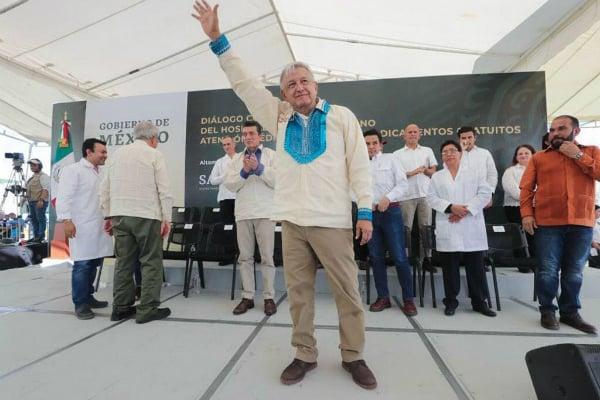 El Presidente de México realizó una visita por el estado de Chiapas. Foto: Especial.