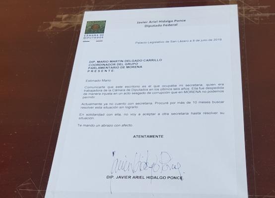 Presuntamente, un diputado de otra fracción parlamentaria habría solicitado la plaza de la secretaria de Hidalgo. Foto Nayeli Cortés