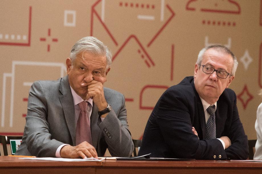 Andrés Manuel López Obrador durante una conferencia de prensa. FOTO: MOISÉS PABLO /CUARTOSCURO.COM