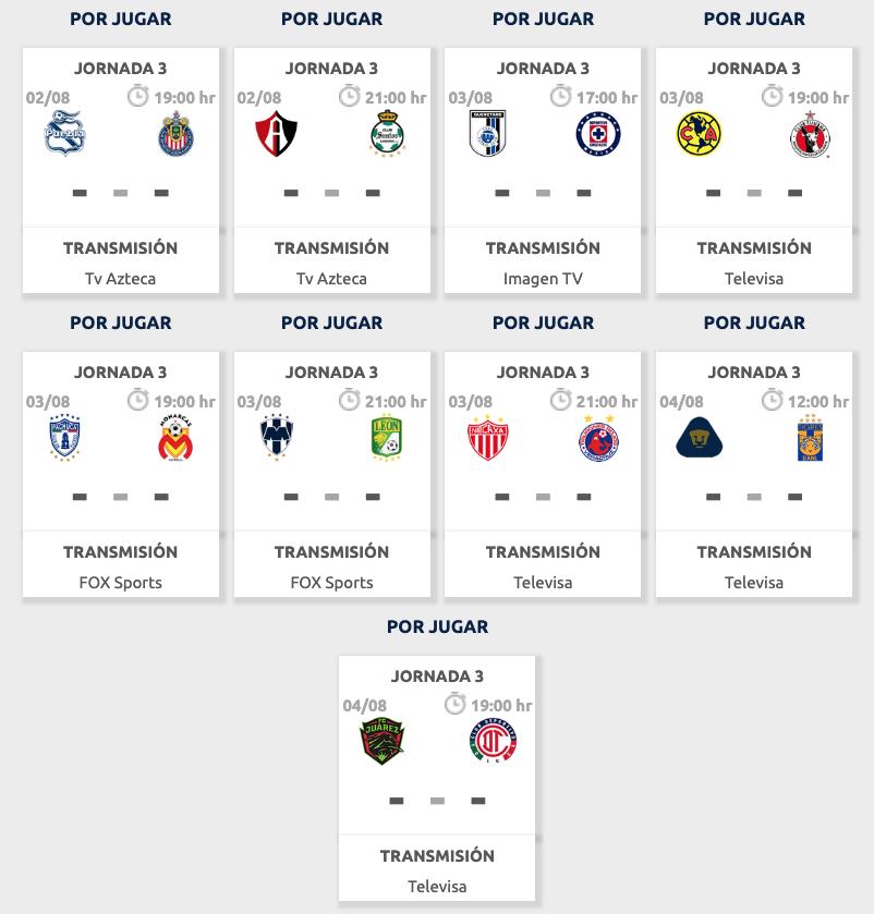 Liga Bbva Calendario 2019.Calendario Liga Mx Apertura 2019 Partidos Horarios Y Donde Ver
