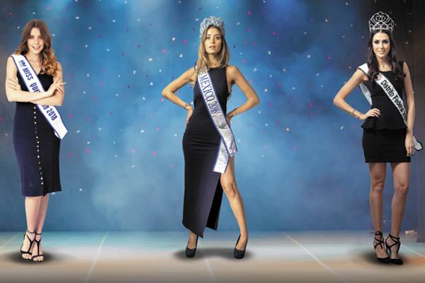 Las tres mujeres que han incursionado en el modelaje y actualmente cada una ha seguido con su carrera.