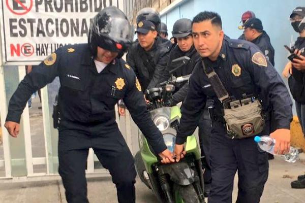 Elementos de la Secretaría de Seguridad Ciudadana de la Ciudad de México realizaron el operativo. Foto: Especial.