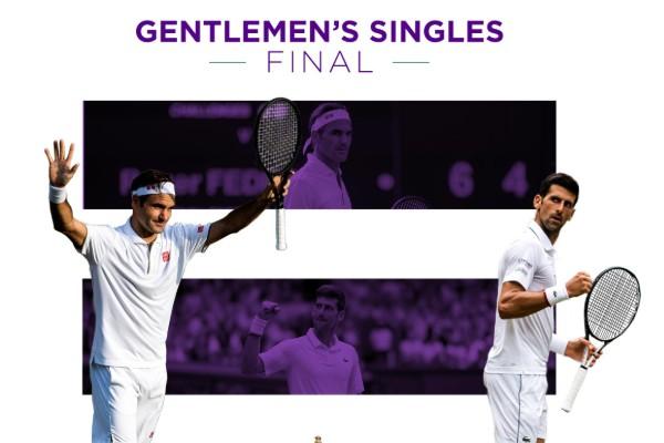 Final Wimbledon 2019 Federer Djokovic