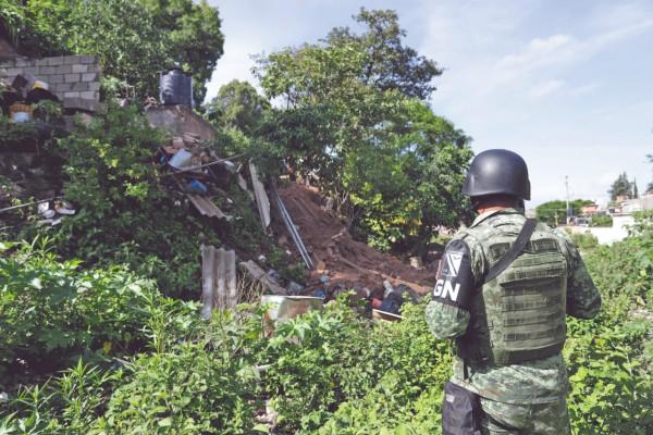 Elementos de la Guardia Nacional resguardaron el sitio de la tragedia. Foto: Enfoque