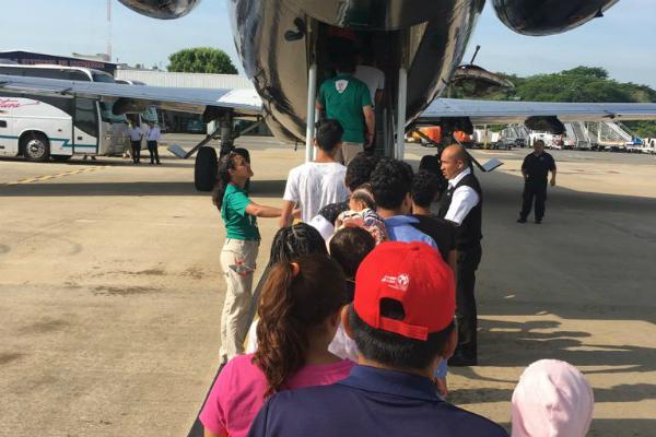 Migración refirió que el proceso de retorno se llevó a cabo con el apoyo de la Guardia Nacional y la Policía Federal. Foto: Especial.