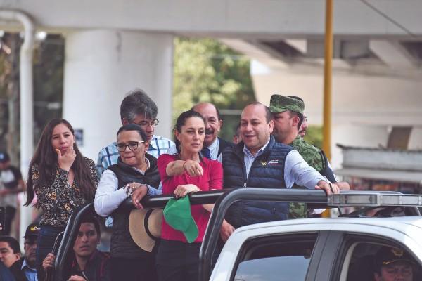 Acompañaron a Sheinbaum, Rosa Icela Rodríguez y Julio César Moreno. Foto: Daniel Ojeda