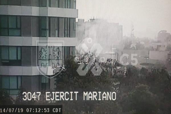 Incendio en departamento de la Miguel Hidalgo