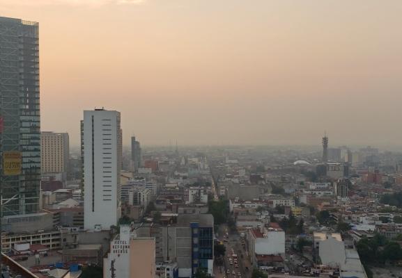 La calidad del aire en la Zona Metropolitana del Valle de México es regular. Foto Twitter