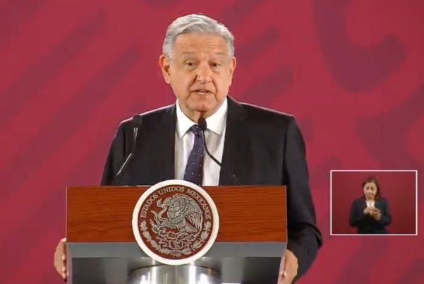 El presidente de México durante la conferencia matutina. Foto: Especial