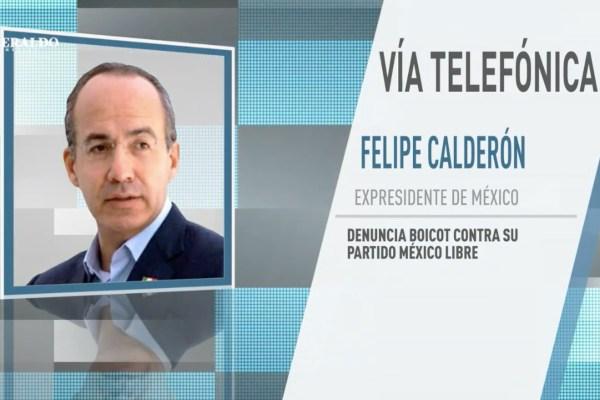 Calderón explicó que el fin de semana se llevaron a cabo ocho asambleas en diferentes puntos del país con gran éxito. Foto: Especial