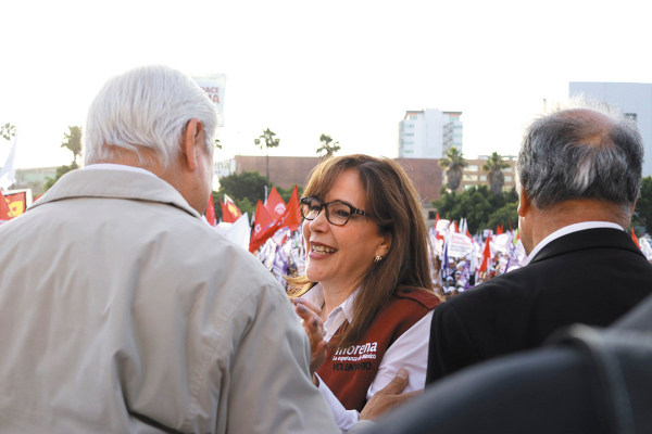 CICLO. La presidenta de Morena, Yeidckol Polevnsky, concluye su periodo este año.  Foto: CUARTOSCURO