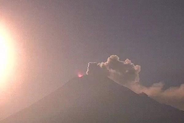Popocatépetl explosiones