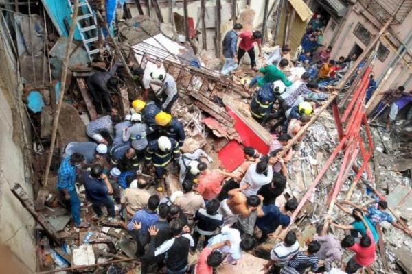 Desplome de edificio en Mumbai