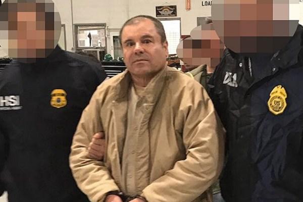 El Chapo Guzmán en juicio de Nueva York. Foto: Especial