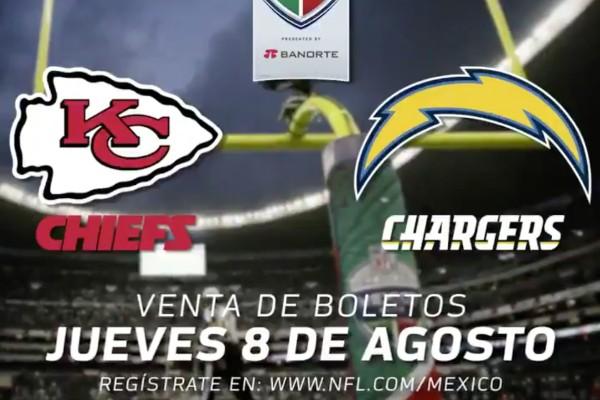 Boletos chiefs vs chargers estadio azteca