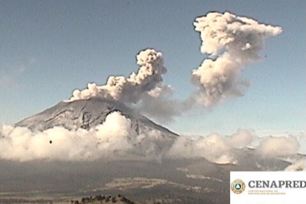El Popocatépetl tuvo 236 exhalaciones en el último día. Foto: Especial