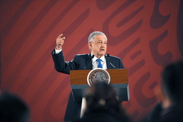 INSISTE. El mandatario señaló como importante la reforma sobre revocación de mandato.  Foto: Nayeli Cruz