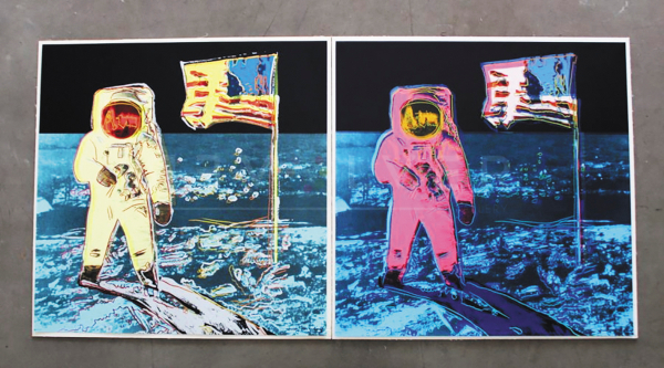 MOONWALK. Andy Warhol lo produjo en 1987, poco antes de morir. Foto: TOMADA DE REVOLVERWARHOLGALLERY.COM