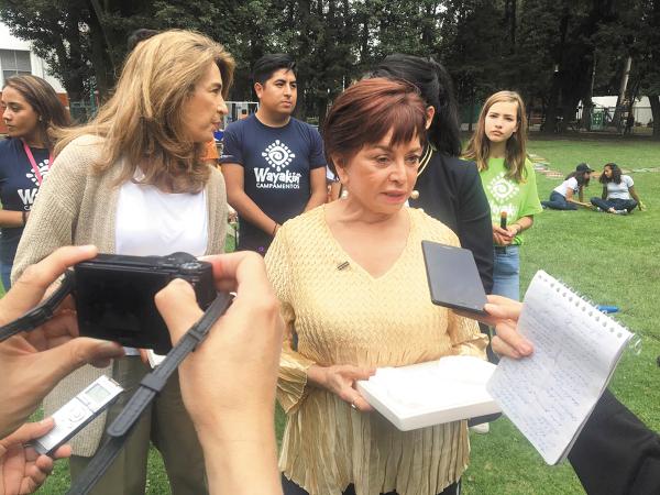 ARTISTAS. La pintora Martha Chapa es una de las participantes de la iniciativa. Foto: Fanny Arreola.
