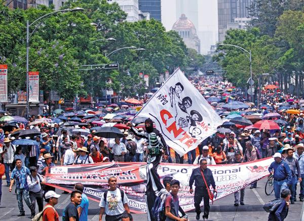 EXIGEN.En marzo, la CNTE bloqueó las sedes del Congreso en la CDMX Foto: CUARTOSCURO