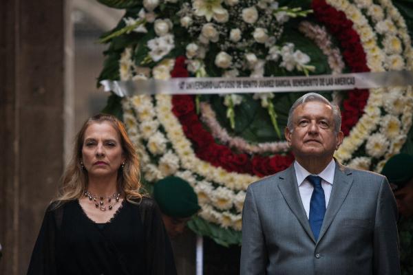 """AMLO recordó que un día como hoy, en 1872, casi a la medianoche, murió en Palacio Nacional """"el presidente más grande en la historia de México, Benito Juárez García"""". Foto: Cuartoscuro"""