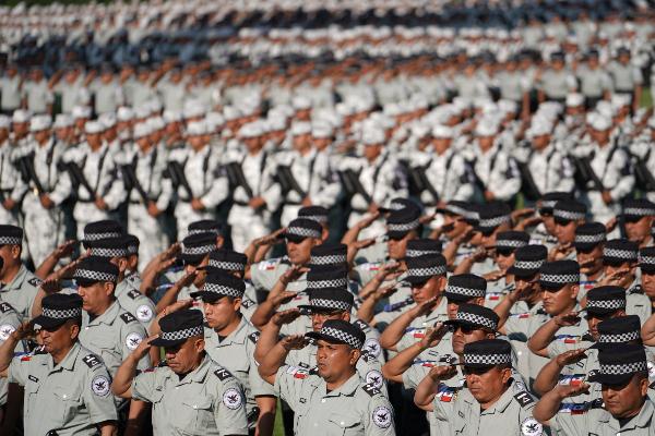 Guardia Nacional en Campo Marte