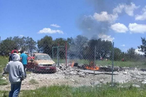 Niña de 4 años y mujer mueren tras explosión de polvorín en Tlaxcala