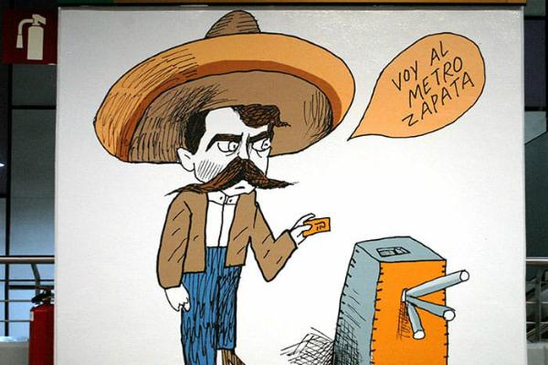 Desde Emiliano Zapata hasta el Santo, el Metro homenajea a personajes de México. Foto: Especial.