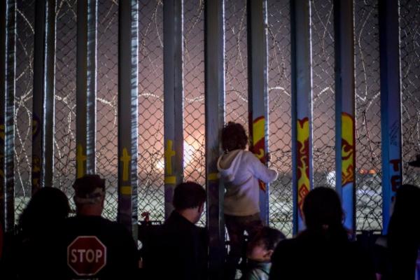 Migrantes en Tijuana, frontera de México con Estados Unidos. Foto: Especial