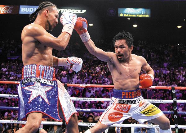 POTENCIA. Pacquiao sigue entre los mejores peleadores de la actualidad y lo demostró otra vez. Foto: AFP